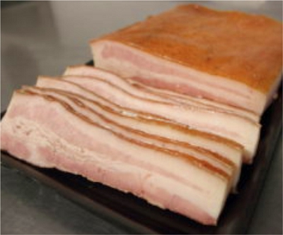 Skin On Sliced Slab Bacon (per pound)